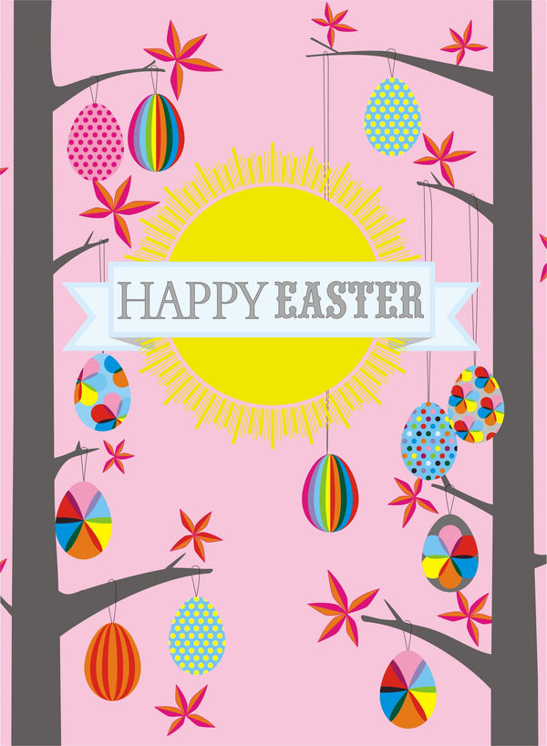 Easter Card, Forest of Easter Eggs, Happy Easter