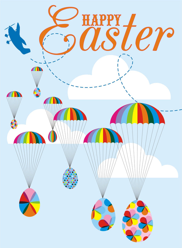 Easter Card, Parachutes, Happy Easter