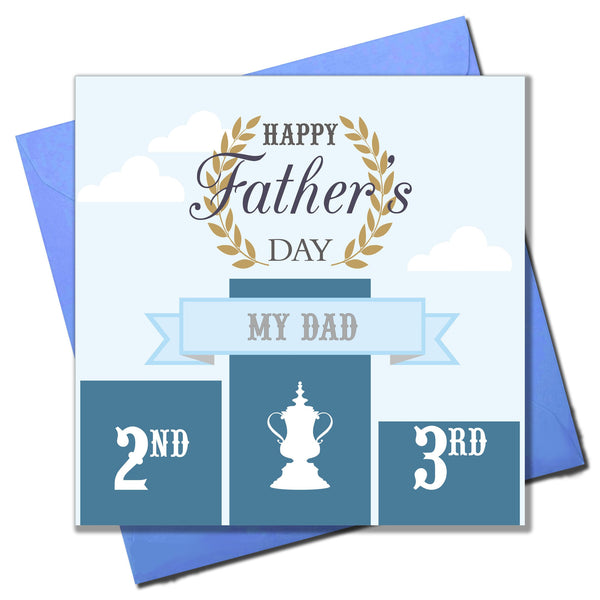 Father's Day Card, Champion Dad, Happy Father's Day