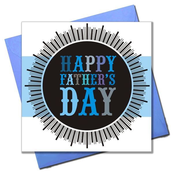 Father's Day Card, Medal, Happy Father's Day