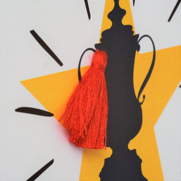 Father's Day Greeting Card, #BestDad, Embellished with a colourful tassel