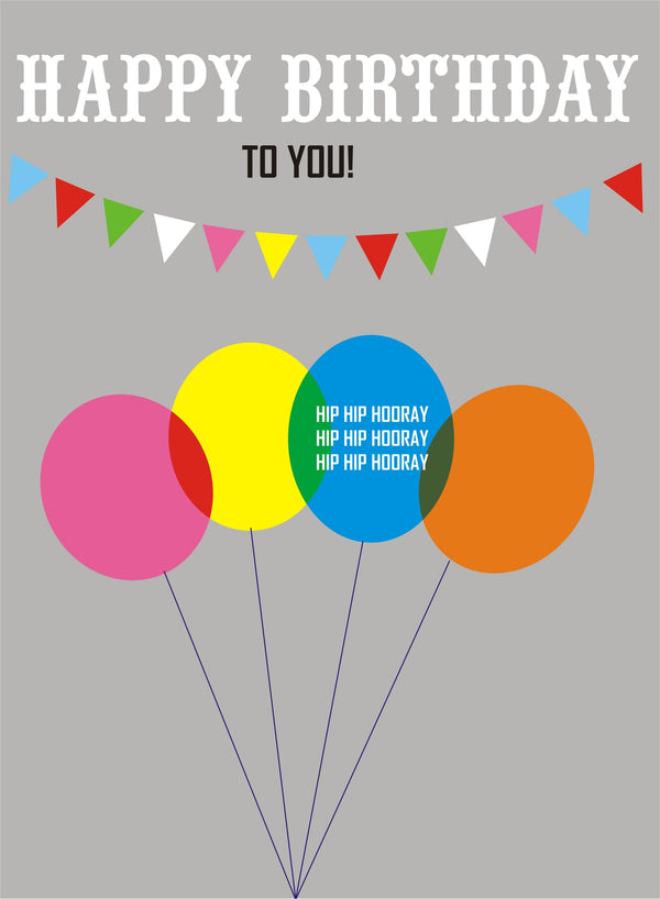 Birthday Card, Balloons, Happy Birthday To You!