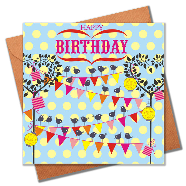 Birthday Card, Bird Party, Happy Birthday