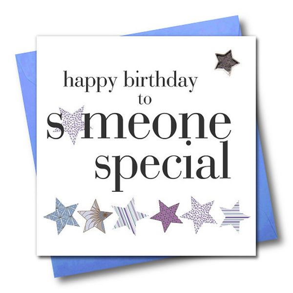 Birthday Card, Someone Special, Blue, Embellished with a padded star