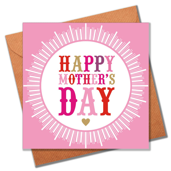 Mother's Day Card, Medal, Happy Mother's Day
