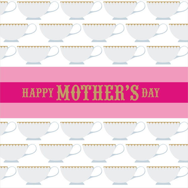 Mother's Day Card, Tea Cups, Happy Mother's Day