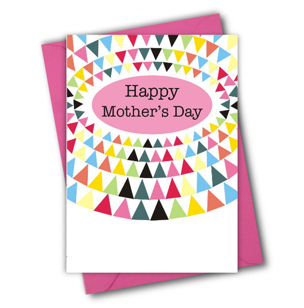 Mother's Day Card, Triangles in an oval, See through acetate window
