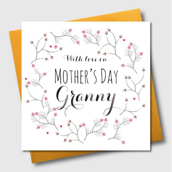 Mother's Day Card, With love, Granny, Granny