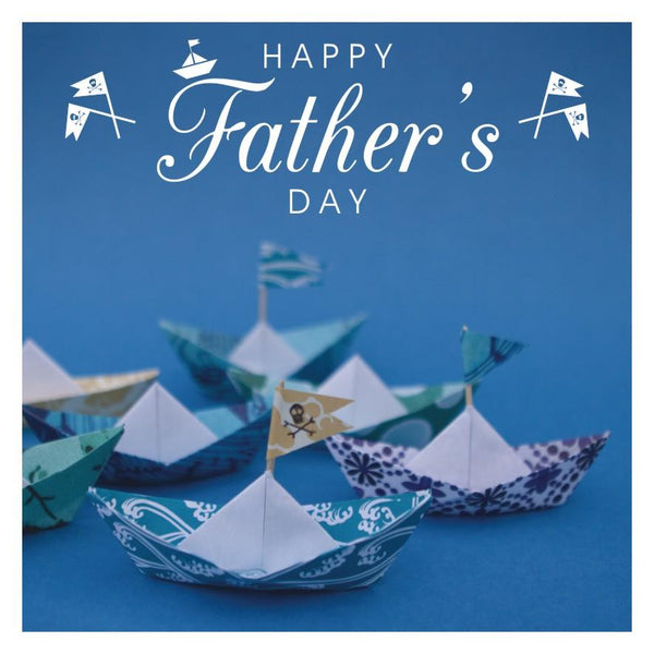Father's Day Card, Boats, Happy Father's Day