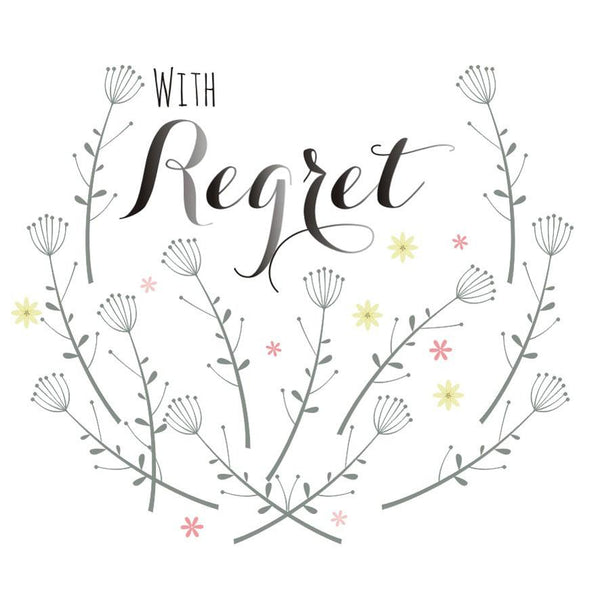 Wedding Card, Flowers, With Regret
