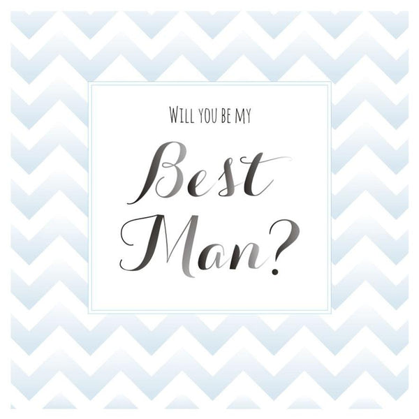 Wedding Card, Blue Stripes, Will you be my Best Man?