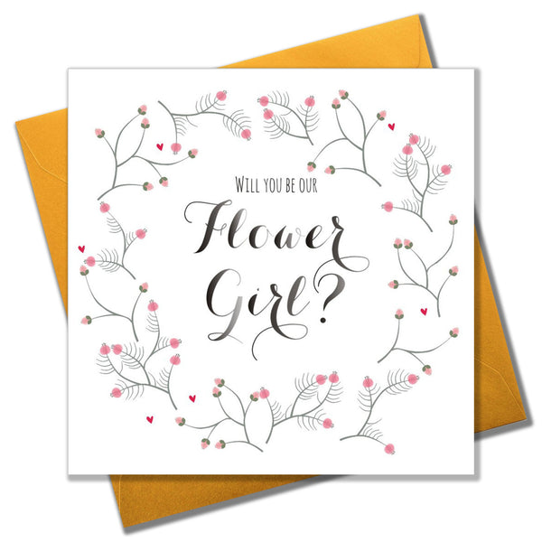 Wedding Card, Flowers, Will you be our Flower Girl?