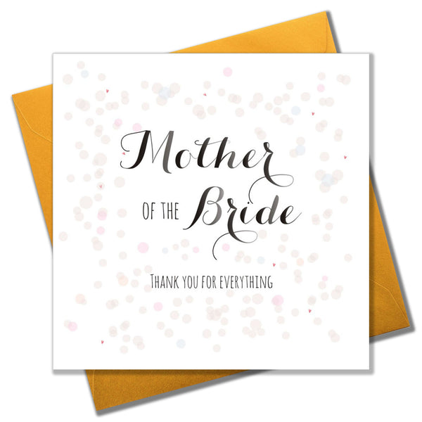 Wedding Card, Colour Dots, Mother of the Bride Thank you