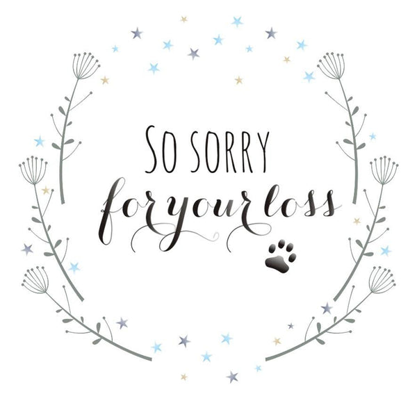 Sympathy, Sorry, Thinking of you Card, Flowers, Sorry for the loss of your pet