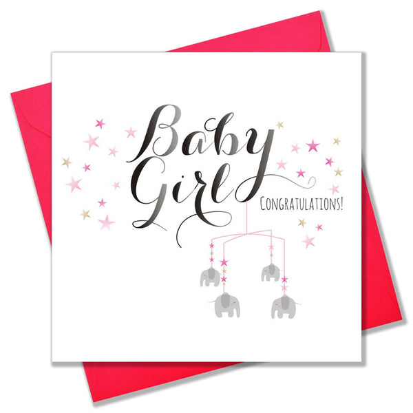 Baby Card, Mobile, Baby Girl Congratulations