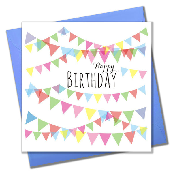 Birthday Card, Pretty Bunting, Happy Birthday