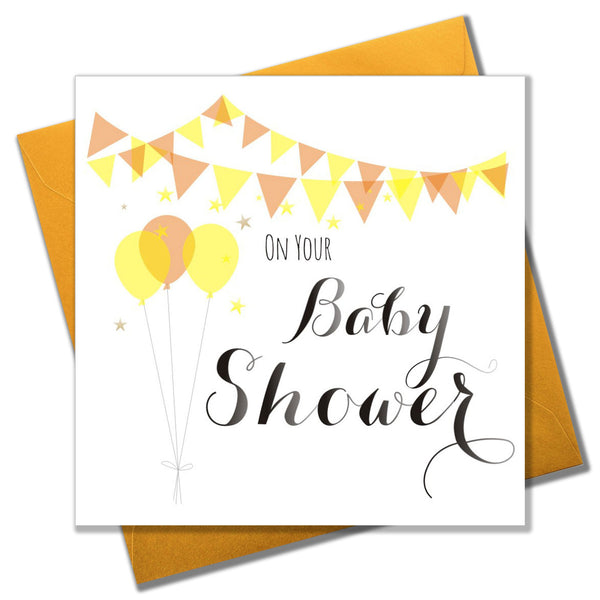 Wedding Card, Balloons and Bunting, On your Baby Shower