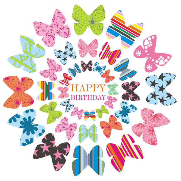 Birthday Card, Butterflies, Happy Birthday
