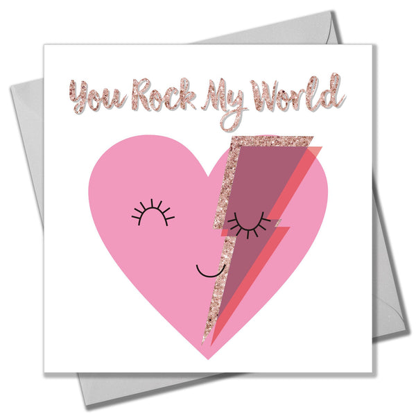 Valentine's Day Card, Rock Heart, You Rock My World