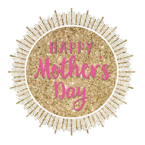 Mother's Day Card, Glitter Sun, Happy Mother's Day