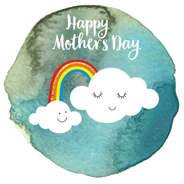 Mother's Day Card, Clouds and a Rainbow, Happy Mother's Day