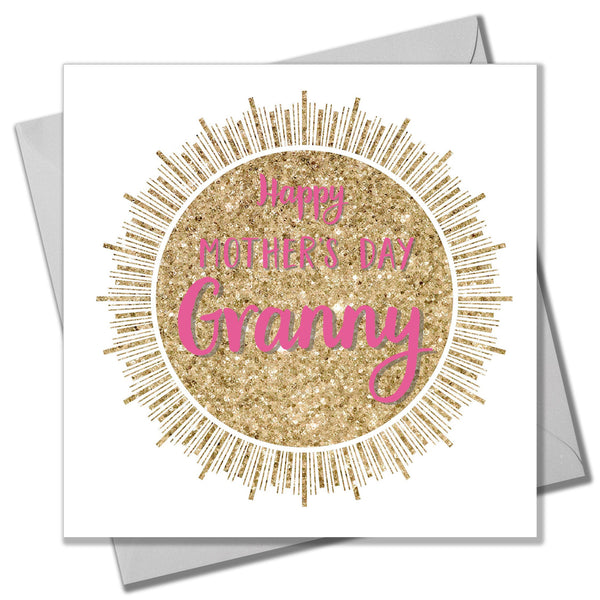 Mother's Day Card, Glitter Sun, Happy Mother's Day Granny