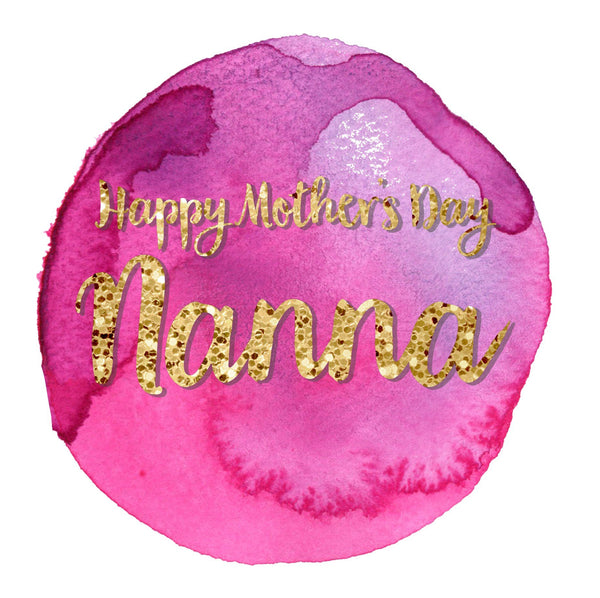 Mother's Day Card, Pink Circle, Happy Mother's Day Nanna