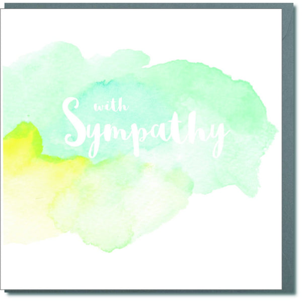 Sympathy, Sorry, Thinking of you Card, Watercolour, With Sympathy