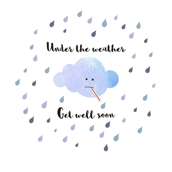 Get Well Card, Poorly Cloud, Under the Weather, Get Well Soon