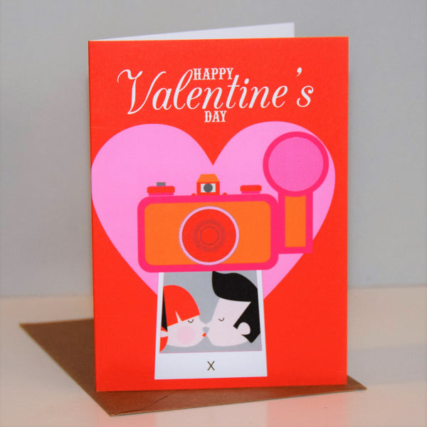 Valentine's Day Card, Instant Photo, Happy Valentine's Day