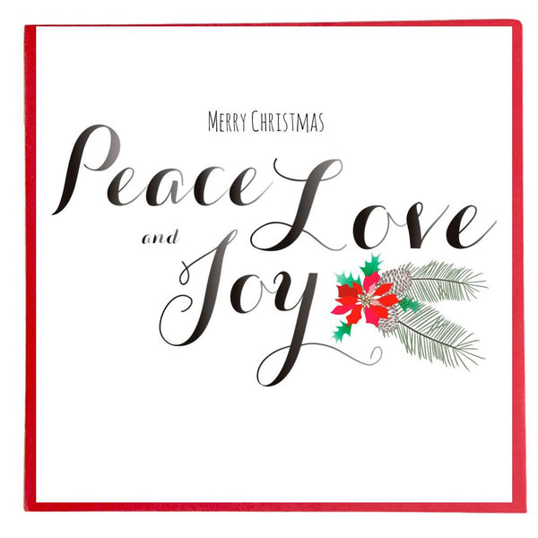 Christmas Card, Peace Love & Joy, Merry Christmas Peace Love and Joy