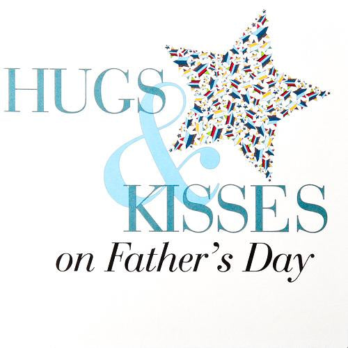 Father's Day Card, Hugs and Kisses