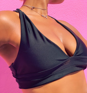 Cross Back Power Mesh Sports Bra