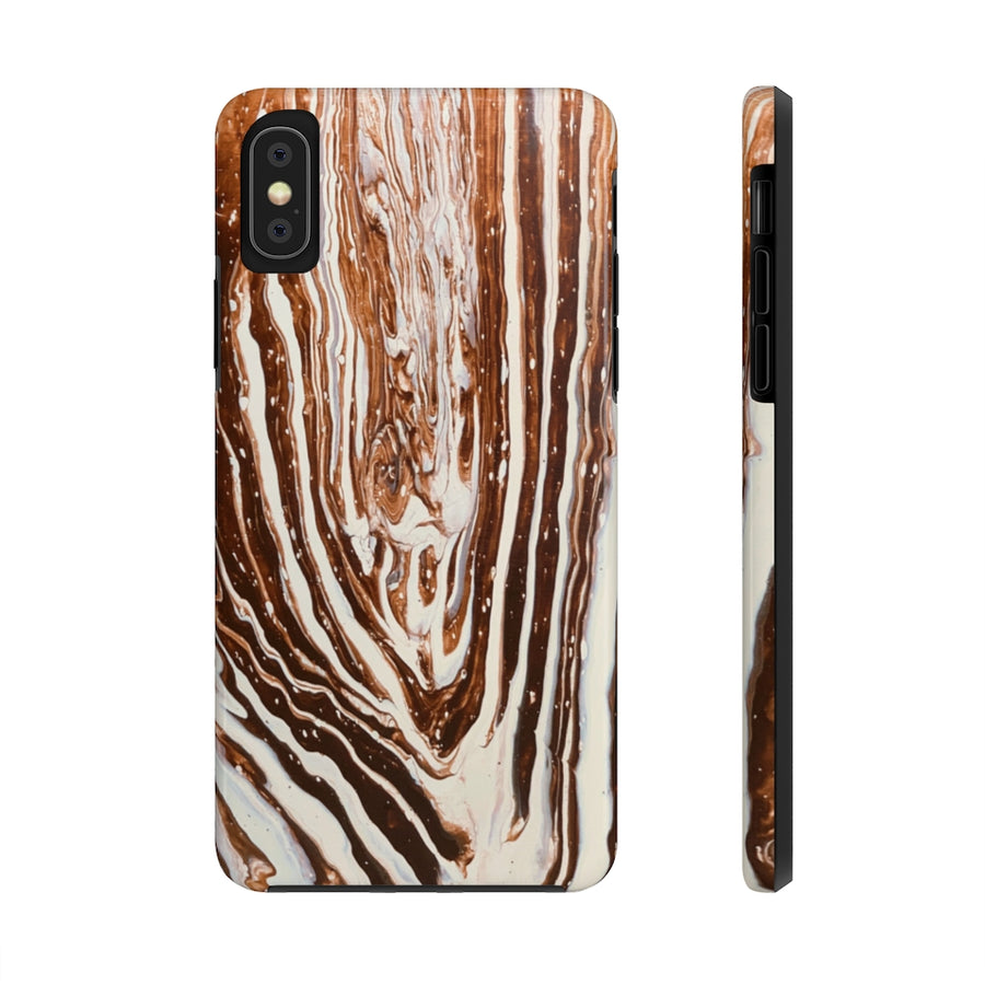 Coffee & Cream Acrylic Pour Cell Phone Case