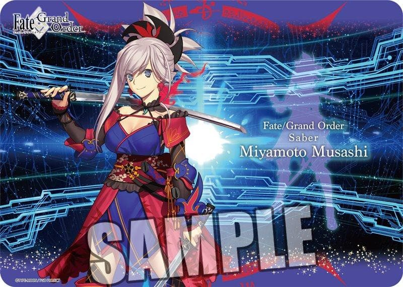 "[New] Character Universal Rubber Mat Fate / Grand Order ""Saber / Miyamoto Musashi"" / Broccoli Release Date: Around June 2019"