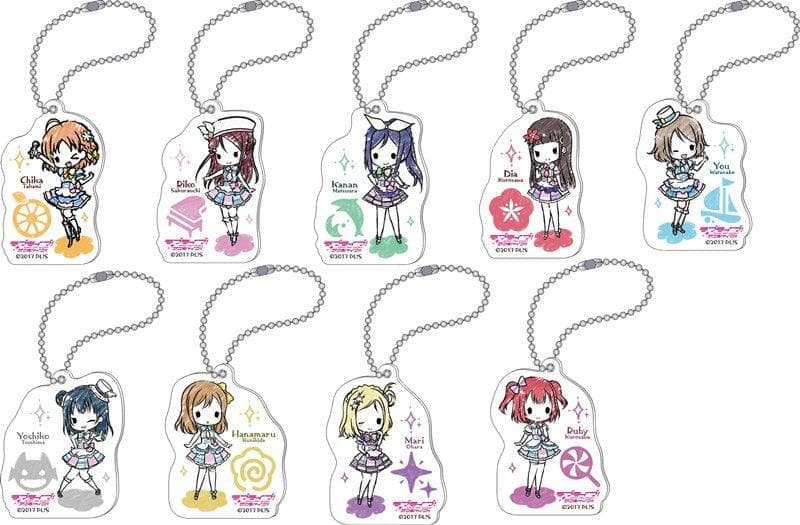 [New] Love Live! Sunshine !! (Anime version) Acrylic Keychain Collection / Aquors 1BOX / Movic Scheduled to arrive: Around January 2018