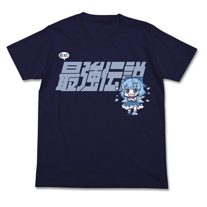 [New] Touhou Project Cirno's Strongest Legend T-shirt / NAVY-XL (Resale) / 2D Cospa Release Date: Around November 2020