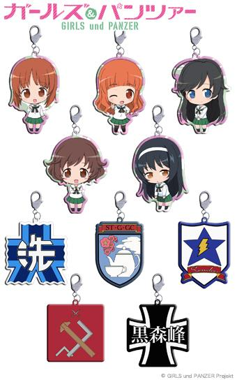 [New] Girls und Panzer Trading Metal Charm (BOX) / Penguins Parade