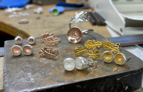 Gold Vermeil high-quality form of gold plating in which a thick layer of gold is coated upon sterling silver.