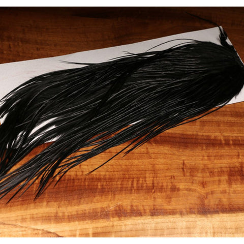 Hareline Dubbin Dyed Black Saddle