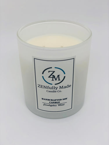 Eucalyptus Mint Aromatherapy Candle - ZENfully Made Candle Co.