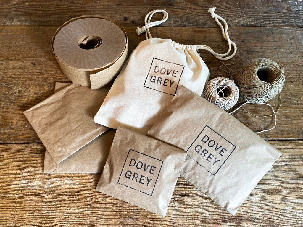 Dove Grey earth friendly packaging