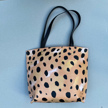 Load image into Gallery viewer, HAND PAINTED CHEETAH TOTE