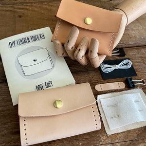 DIY LEATHER POUCH KIT