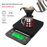Drip Coffee Scale With Timer Portable Electronic Digital