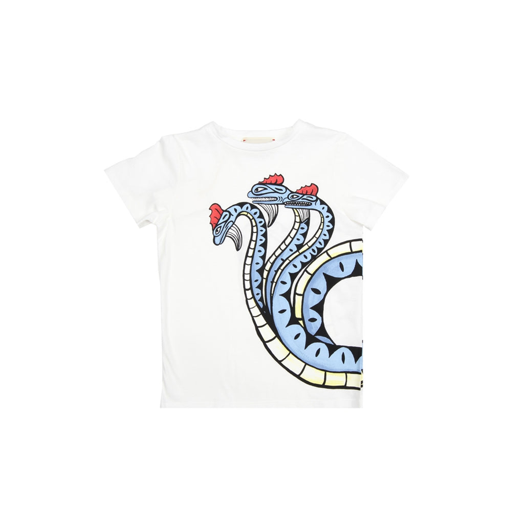 Gucci Three-headed Dragon White T-Shirt