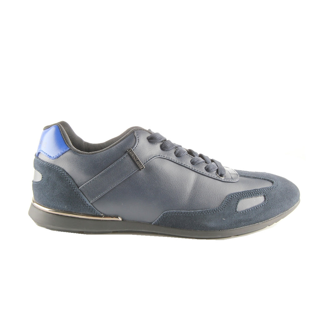 Versace Jeans Suede Low Top Navy Trainers
