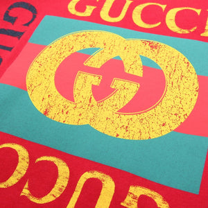 Gucci Kids GG Vintage Logo Red T-Shirt