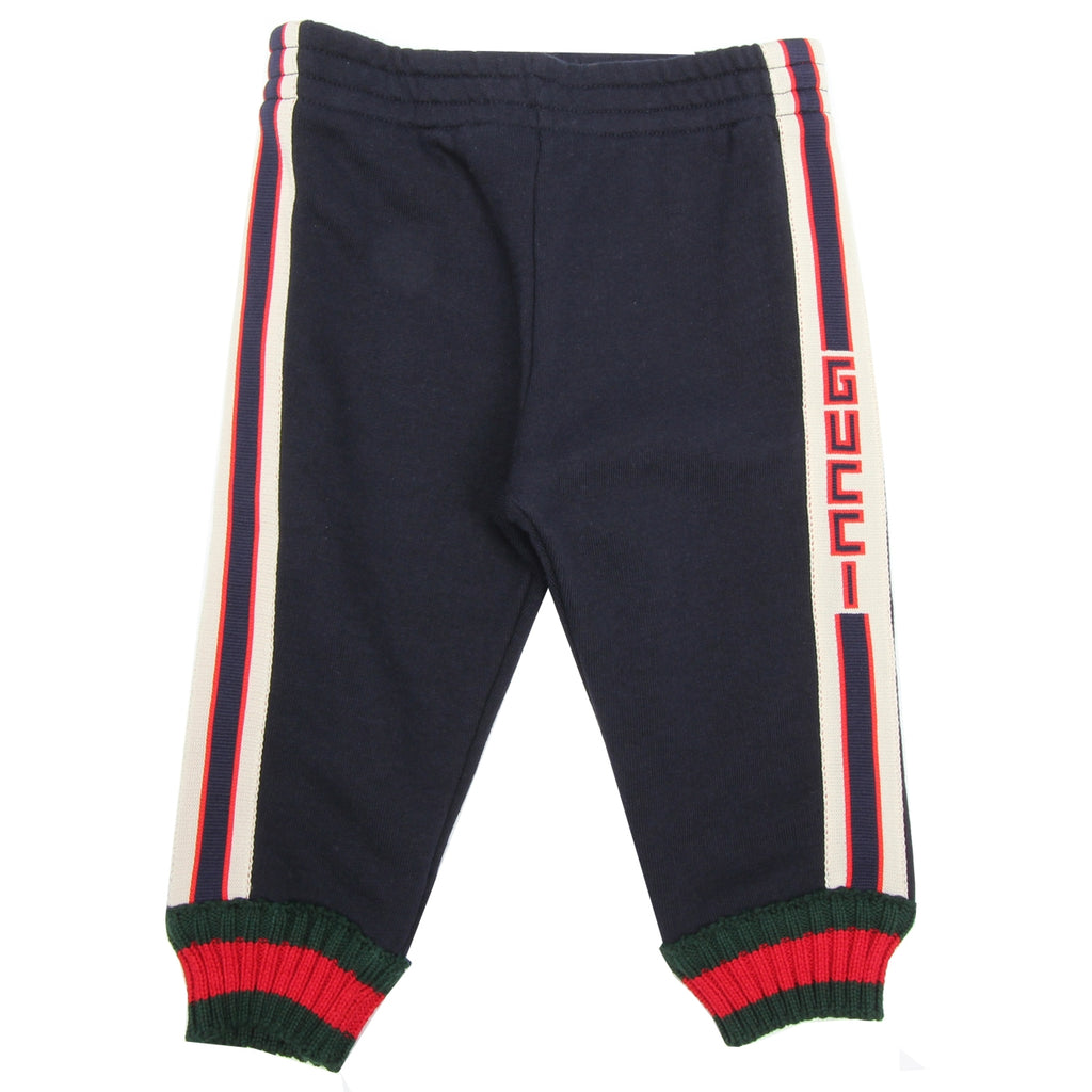 Gucci Baby Navy Jogging Bottoms