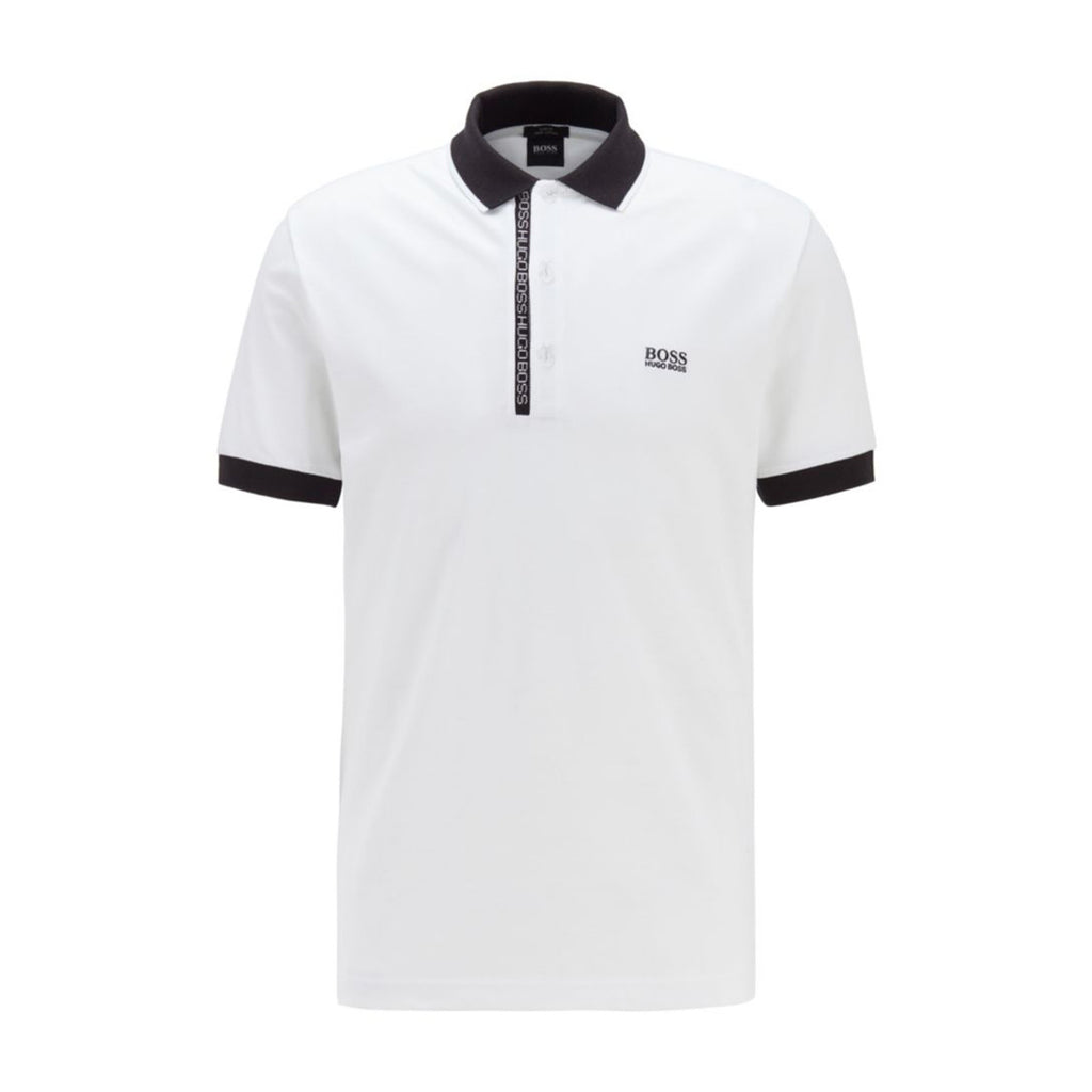 Boss Paule 4 White Polo Shirt